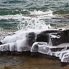 Ice on the North Shore by A. Kakuk