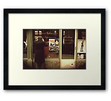 Closed Cafe Framed Print