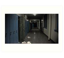 Abandoned Hallway Art Print