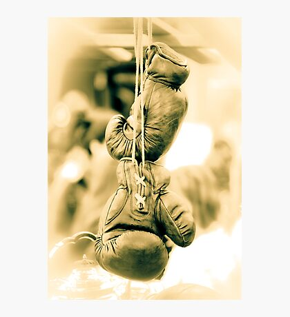 Vintage Boxing Gloves Photographic Print