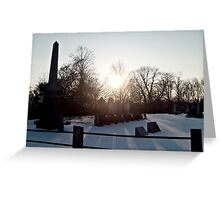 Sunrise Shadows In The Snow Greeting Card