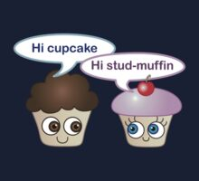 Hi cupcake, hi stud-muffin Kids Tee