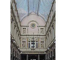 Art over Colonnade, Galeries St Hubert, Brussels, Belgium Photographic Print