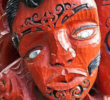 maori carving 2 by Anne Scantlebury