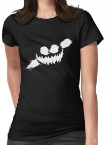 Haunted Smile white Womens Fitted T-Shirt