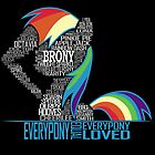 Brony Typography POSTER by Northern Dash