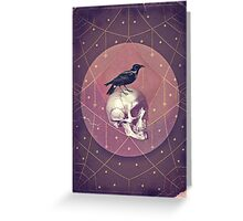 Crow and Skull Collage Greeting Card
