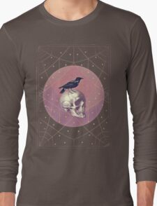 Crow and Skull Collage Long Sleeve T-Shirt