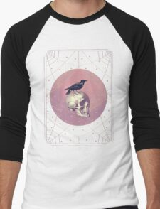 Crow and Skull Collage Men's Baseball ¾ T-Shirt