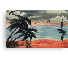 Cloudy day, waterolor Canvas Print