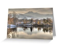 Between Fall and Winter Greeting Card