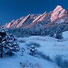 Cathedral - The Flatirons At Sunrise by Greg Summers
