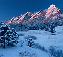 Cathedral - The Flatirons At Sunrise by nikongreg
