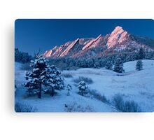 Cathedral - The Flatirons At Sunrise Canvas Print