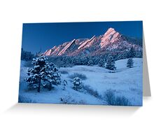 Cathedral - The Flatirons At Sunrise Greeting Card