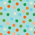 Beach polka dots by Morag Anderson