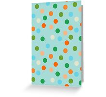 Beach polka dots Greeting Card