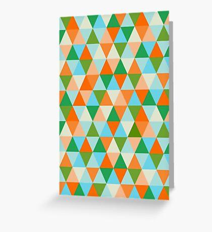 Beach triangles Greeting Card
