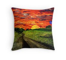 Tranquility Lane Throw Pillow