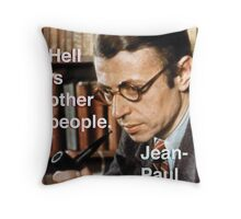 Hell is Other People - Sartre Throw Pillow