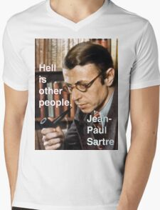 Hell is Other People - Sartre Mens V-Neck T-Shirt