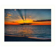 The Sun Burst Through the Clouds Art Print