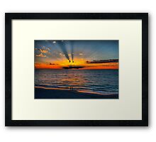 The Sun Burst Through the Clouds Framed Print