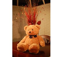 "Faith, The Cancer Research Bear....""Celebration"" Photographic Print"