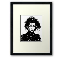 Edward Scissorhands - Tee and iPhone case Framed Print