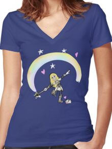 Lux vs. The Forces of Noxus Women's Fitted V-Neck T-Shirt