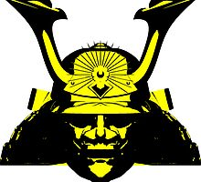 Kabuto graphic in yellow and black by Steve Crompton