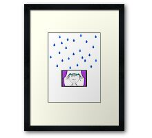 Sad Girl - Rain Framed Print
