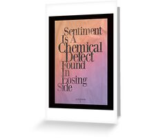 Chemical Defect Greeting Card