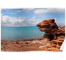 Rocky shore of Broome Poster