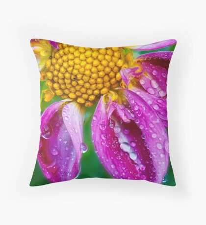 Weeping Dahlia - In Remembrance Throw Pillow