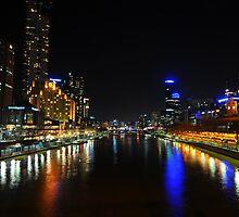 Melbourne by night - St Kilda Road Bridge by fergs55