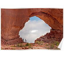North Window Arch, Arches National Park Poster
