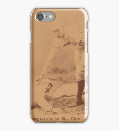 Benjamin K Edwards Collection Hick Carpenter Cincinnati Red Stockings baseball card portrait iPhone Case/Skin