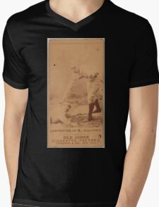 Benjamin K Edwards Collection Hick Carpenter Cincinnati Red Stockings baseball card portrait Mens V-Neck T-Shirt