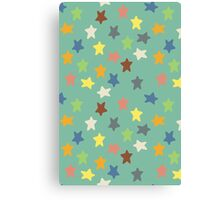 Hippy stars Canvas Print