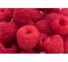 Delicious Red Raspberries Photographic Print