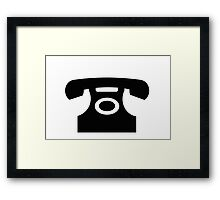 Telephone sign as clipart Framed Print