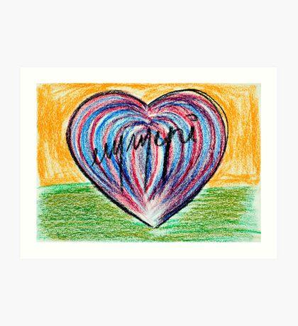 Signed heart Art Print