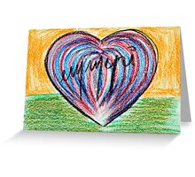 Signed heart Greeting Card