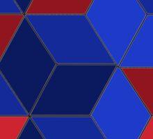 Abstract Box Design 322J Sticker