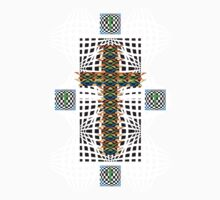 Abstract Cross Wht by Designer1562