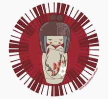 Kokeshi - Red One Piece - Short Sleeve