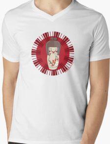 Kokeshi - Red Mens V-Neck T-Shirt