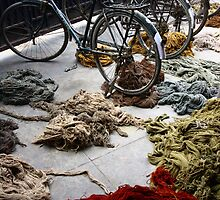 The stuff carpets are made from - Agra, India by fionapine