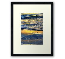 Shimmering Magically into the Evening Sun Framed Print